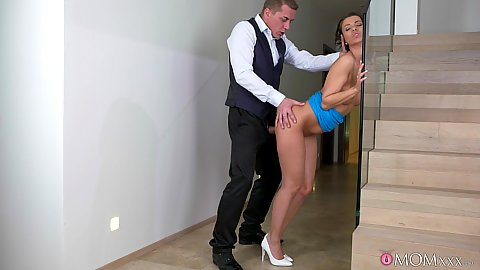 Fucked standin up near stars with tight vagina mom milf Vicky Love