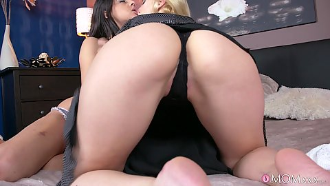 Kissing and pussy eating out with Afina Kisser and Coco De Mal