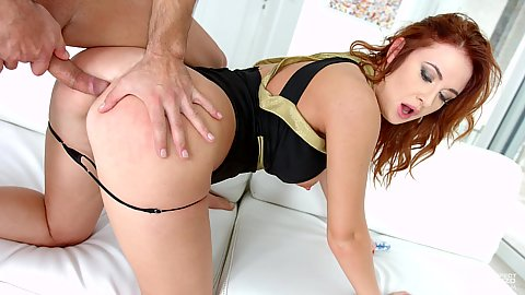 Look at that ass on redhead Eva Berger