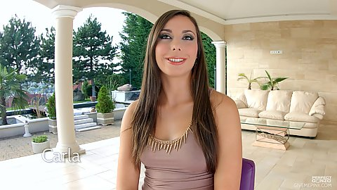 Majestic girl with nice smile fully clothed outdoors Carla Cruz