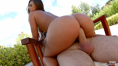 Nice chair anal sex with round booty white girl Amirah Adara