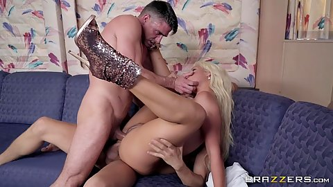 Double penetration for business lady Bridgette B with her ass wanting more