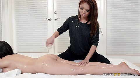 Oil massage with sexy girls Ayumi Anime and Darcie Dolce