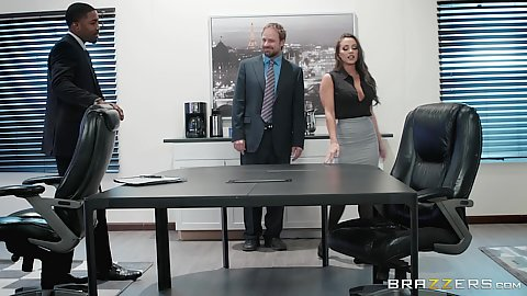 Abigail Mac is at the office and down to deep throat dick being the bosss daughter and all