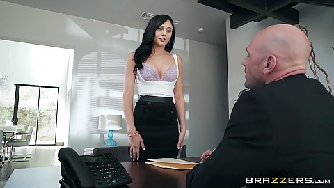 Ariana Marie at the office stripping for her employer