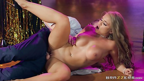 Gameshow busty bang with huge dick for pornstar Alessandra Jane