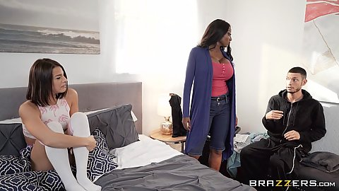 Evelin Stone and Diamond Jackson in stepmother going under cover for some suckie suckie
