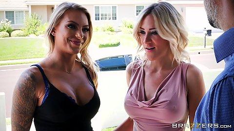 Two big boobies girls looking sharp Juelz Ventura
