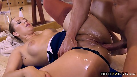 Nikky Dream is an anal ballerina that loves oil and facial ejaculation after practice