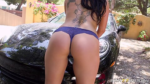 Car was with asian inked London Keyes and some sex