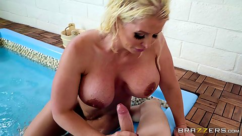 Sauna sex school cock sucking big ass milf mom Alura Jenson