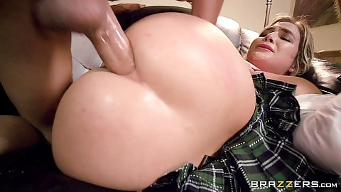 Ass ripping half dressed anal penetration for medium sized chest Blair Williams