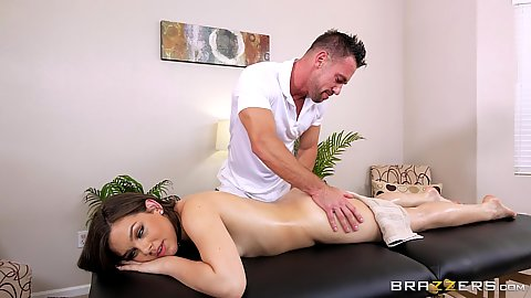 Oil rub down masasge with Kimber Woods