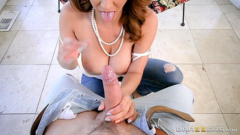 Big boobed latina milf pov titty fuck and sex with bday mom Isis Love