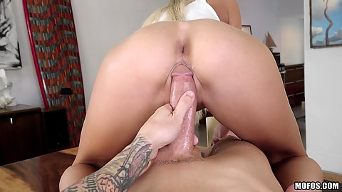 Pov large cock cock sitting with Tiffany Watson and under the table sex