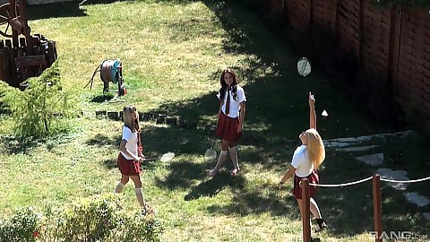 Outdoor school girls acting all adorable and stuff Gina Gerson