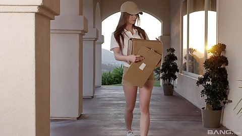 Anya Olsen and Sandy doing home deliver of sex toys