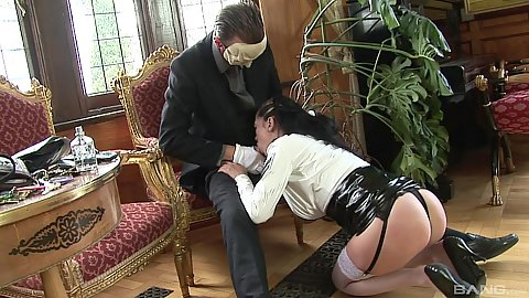 Face mask fucking half dressed milf with hardcore passion