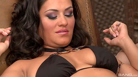 Natural chest latina Charley Chase gets touched and feet loved