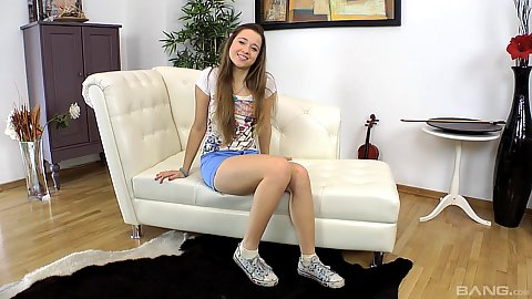 Cute skinny 18 year old amateur Taisha comes in for first time private cast