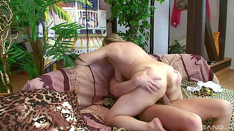 Cock sitting mature natural saggy boobs mom doing old woman young man