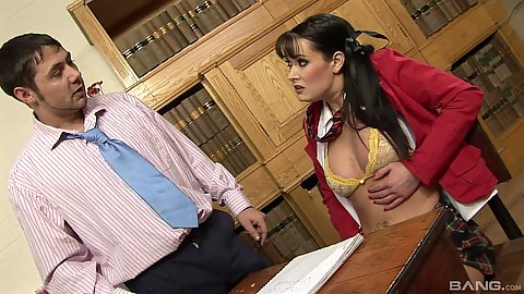 Body guard and teacher wants school girl to suck him off