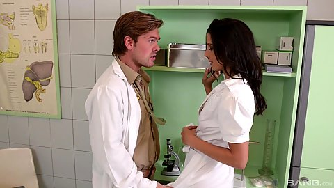 Doctor visit with Alexa Tomas in story based military drama