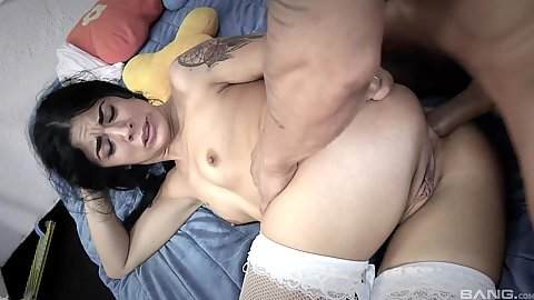 Sideways ass fuck with first sex video small boobies latina teen Lilly Doll