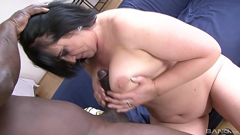 Titty fuck from mature chubby euro mom Ria Black and pussy fuck