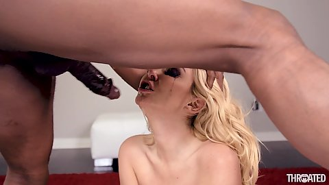 Mouth fucking with running mascara rough big black cock feeding Aaliyah Love