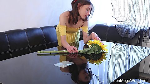 Annet is turned on by this sign of romance getting flowers and a dildo together
