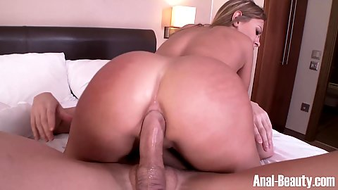 Naked ass on dick in anal sex and titty fuck with Katarina Muti