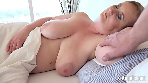 Large boobed mature wife is sleeping while stepdaughter gets nasty