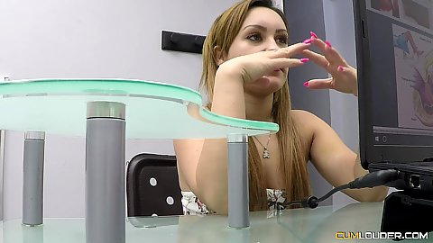 Melany Kiss awaiting her gonecologist doctor apointment and enters his exam room then takes off underwear