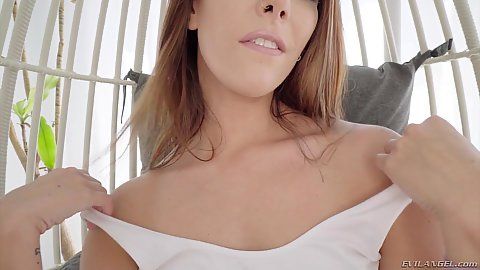 Undressing all natural firm breasted Ani Black Fox deep throat right away