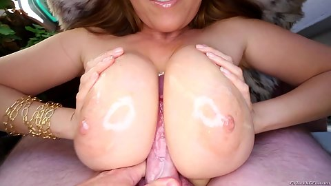 Oiled tits with titty fuck in pov fuck for Kianna Dior and cumshot rigiht between the eyes yayks