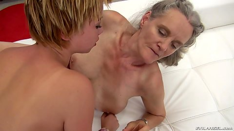 Grandma and young girl fuck Rocco and his large sausage during casting video Elisa A and Tricia Teen