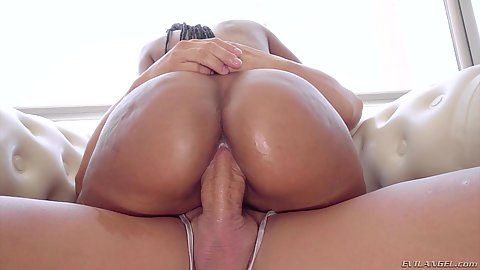Dick in the hole of great black girl on white cock college Noe Milk riding nice