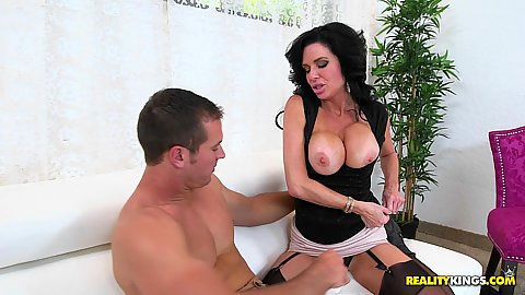 Work relationship can only take so much teasing from stockings wearing milf Veronica Avluv