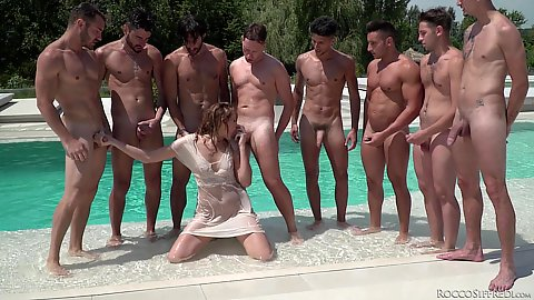 Linda Leclair is here for a real life gang bang cfnm outdoor oral service
