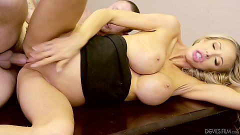 Office sales team coworker fucking with large knockers blonde white milf Courtney Taylor 1 on 1