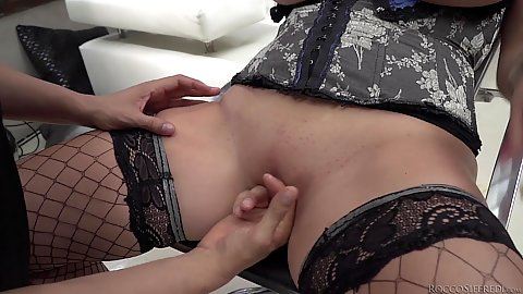 Hairless corset wearing females live show bbc sucking Anissa Jolie and Kira Queen