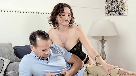 Krissy Lynn likes to feel naughty and she makes a good milf fuck wearing corset