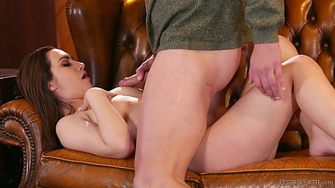 Lily Jordan takes charge of older mans dick and not before he comes on that slutty stepdaughter face