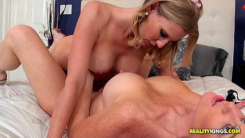 Two house looking milf Licious Gia and Brianna Ray decide to muff dive a bit