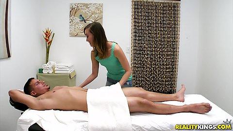 Massage skinny doggystyle cfnm
