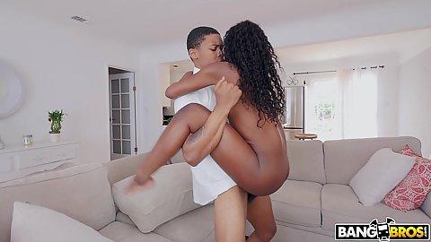 In the air fucking stepsiblings with teen black hottie Noemi Bilas