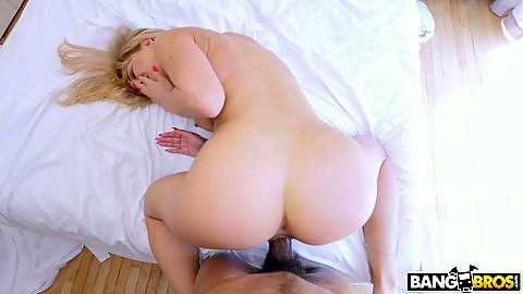 Pov rear penetration for a nice shaped stepmom booty Cherie Deville and sticks out tongue to college the semen after cumshot