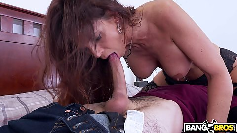 69 and face sitting with cock bouncing large knockers stepmom milf Syren De Mer needing to put her stepson through discipline