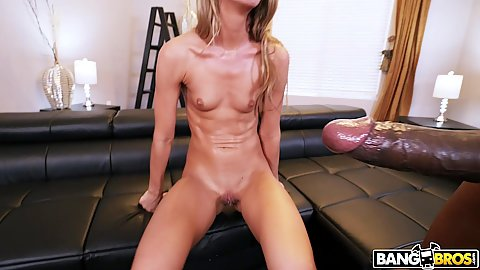 Tara Ashley is so skinny and tiny with almost a flat chest but she will only fuck a dick thats bigger than her arm and gets facial from it